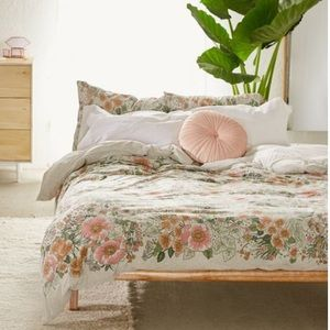 Urban outfitters Lovise Floral Jersey Duvet Cover